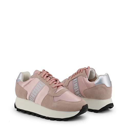 BIKKEMBERGS Scarpe Basse Sneakers Donna Rosa (Fend-ER_2087)