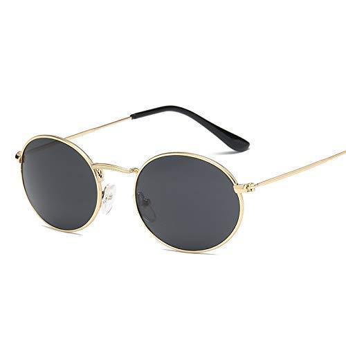 ZHAS High-End-Brille Retro Runde Sonnenbrille Männer Frauen Vintage Sonnenbrille Matel Frame Sonnenbrille Shades Personalisierte High-End-Sonnenbrille schwarz
