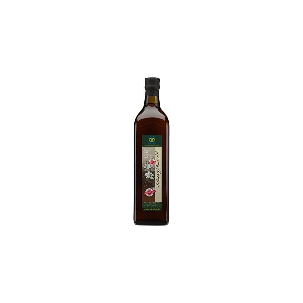 Manako Schwarzkmmell Human Kaltgepresst 100 Rein 1000 Ml Glasflasche 1 X 1 L