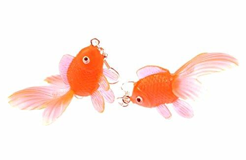 Goldfisch Ohrringe Kampffisch Fisch Aquarium Fische Miniblings Koi neonorange (Ohrringe Fisch)