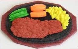 Iwako Steak Dinner Hot Plate Erasers from Japan