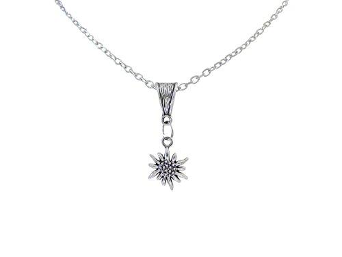 edelweiss anhaenger Ladinell Damen Geschenk Schmuck Halskette Kette 46cm Edelweiß Anhänger 3,5cm