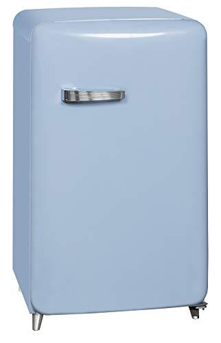 Exquisit RKS 130-11 A++TB Retro-Kühlschrank/EEK: A++/4* Gefrierfach/121 Liter/ Retro-Handgriff/Taubenblau