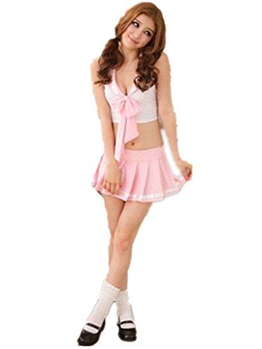 Girl Kostüm Sexy - Shawa Negligee Sexy Pink, School-Girl Kostüm Sexy Schulgirl/Schulmädchen Uniform Cosplay
