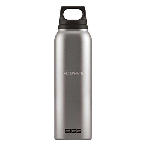 SIGG Hot & Cold Brushed inc. Cup Getränkeflasche, Trinkflasche, Flasche, Outdoorflasche, Edelstahl, Silber, 500 ml, 8694.30