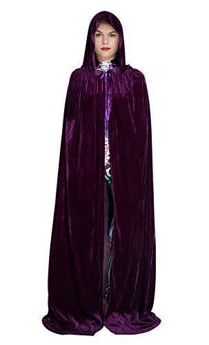 Ritual Kostüm Heidnisches - Fanient Unisex Velvet Capes mit Kapuze in voller Länge Halloween Christmaas Cosplay Erwachsene Robe Kostüme Maskerade Mäntel