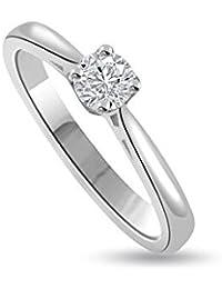 0.30ct G/SI1 Solitär Diamant Verlobungsring für damen mit Runder Brillantschliff Diamanten in 18kt (750) Weißgold