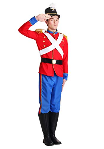 Mens Toy Soldier Fancy Dress Costume Large - Adult-toy Soldier