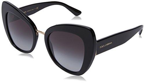 Dolce & Gabbana Damen 0DG4319 501/8G 51 Sonnenbrille, Schwarz (Black/Gradient),