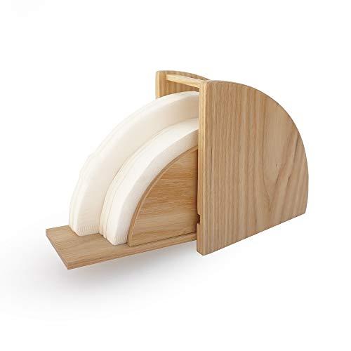 V60 Filterpapier-Aufbewahrungsbox, konisch, Flabellate Holz Kaffee Filter Papierhalter