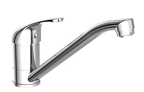 EISL Spültischarmatur Classic, Wasserhahn Küche Niederdruck, 360° schwenkbar, ideal auch für Doppelspülbecken, NI184CR, Chrom_Grande_Vita_2