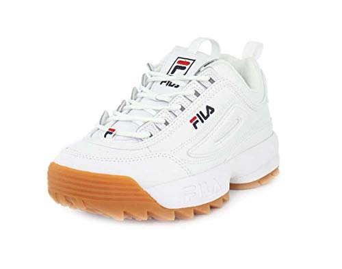 Fila Disrupter II Premium Donne Running Trainers 5FM00104 Sneakers Scarpe (UK 6.5 US 9 EU 40, White Navy Gum 161)