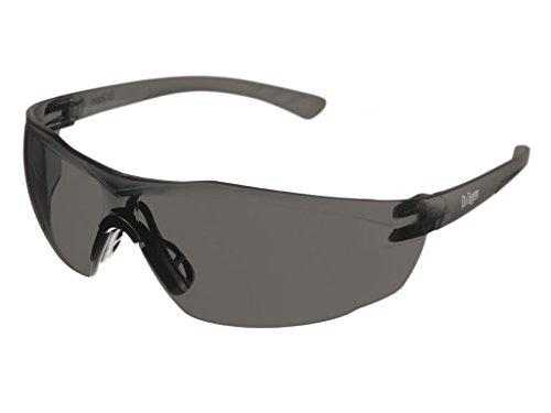 Dräger Schutzbrille X-pect 8321, Leichte Sicherheitsbrille mit großem Sichtfeld Für Baustelle, Werkstatt, Fahrrad-Fahren, Joggen, Getönt, kratzfest und beschlagfrei, 10 St.
