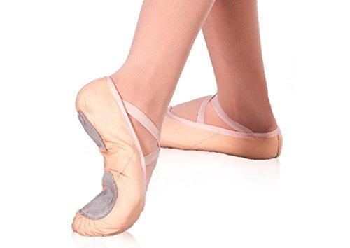 Happy Dance 21 - Zapatillas de ballet para niñas, color salmón, talla 25