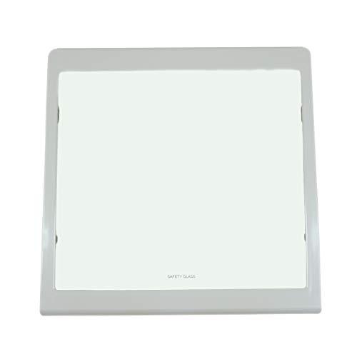 ORIGINAL Bosch Siemens 662038 00662038 Boden Fach Platte Ablage Abstellplatte Abdeckplatte Glasplatte 440x437x32mm Kühlschrank Gefrierschrank Kühl-Gefrier-Kombination auch Balay Constructa Neff
