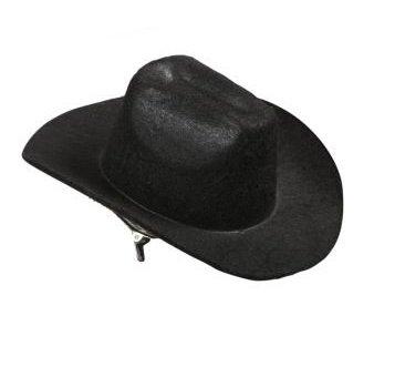 MINI - HUT - COWBOY -, schwarz mit 2 (Mini Cowboy Hüte)