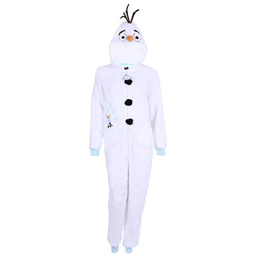 -:- Disney -:- Frozen -:- Einteiliger Pyjama Olaf DIE EISKÖNIGIN - VÖLLIG UNVERFROREN - L (Für Pyjama Frauen Frozen)