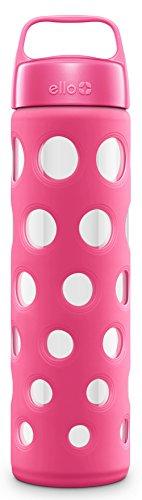 Botella de agua de cristal puro Ello, color rosa
