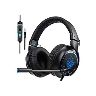Sades R5 PS4 Xbox One Gaming Headsets, Over Ear PC Gaming Headphones, Bass/Stereo/Noise Cancelling/Microphone/Volume Control/ 3.5MM Plug