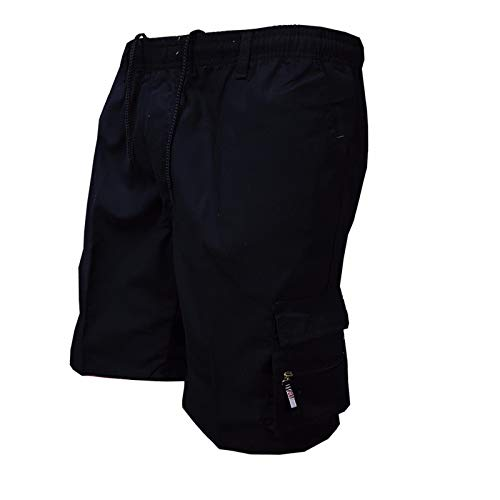 Cassiecy Herren Shorts Freizeit Kurze Hose Herren Sommer Shorts Sporthose Kurz Mit Tasche(Schwarz,m)
