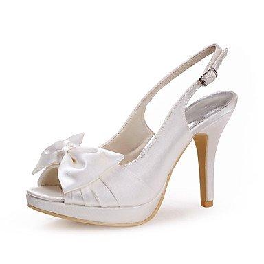 Wuyulunbi@ Satin Womens Wedding Stiletto Heel Pee Toe/Pompe Tacchi Scarpe Con Bowknot (Più Colori) US7.5 / EU38 / UK5.5 / CN38
