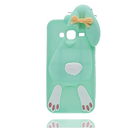 Samsung Galaxy J3 2016 Coque, 3D Cartoon lapin Bowknot, Case Samsung Galaxy J310 Étui, TPU Flexible Durable Shock Dust Resistant Shell