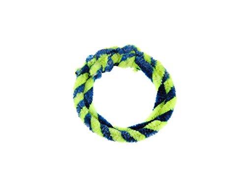 FEZ Nabenputzringe Blau/Neongelb (Set 1 x 25cm + 1 x 30cm für Fahrrad)