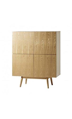 Camino a Casa–Buffet alto design bianco e legno 4porte Hip