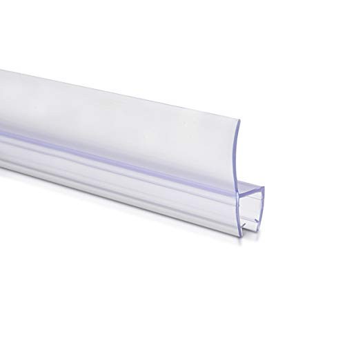 31WJlASpziL - Navaris junta de recambio para ducha - Repuesto para puerta de vidrio con grosor de 6MM - Sello protector contra salpicaduras 180° de 80CM de largo