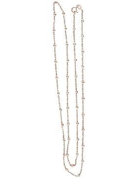 Hobra-Gold 45 Cm Silberkette 925 Rotgold Kugelkette Kette Silber Rose Vergoldet Halskette