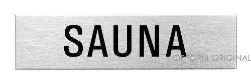 OFFORM Plaque de porte en acier inox brossé, pictogramme \
