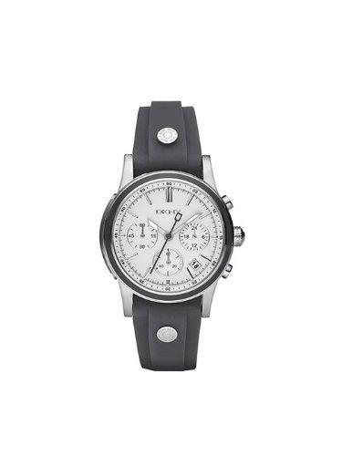 DKNY NY8175 - Reloj cronógrafo de cuarzo para mujer, correa de goma color gris (cronómetro)