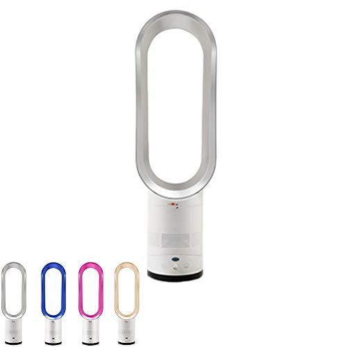 SanQing Ventilateur sans Feuilles, purificateur d'air à ions négatifs, Support de Plancher télécommandé, Ventilateur de Tour, 16 po Ultra Silencieux,Silver