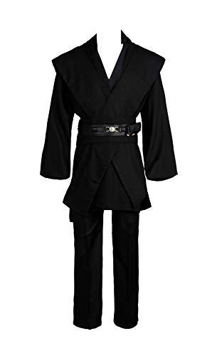 Star Wars Anakin Skywalker Cosplay Kostüm Kleidung Schwarz Version XXL (Anakin Skywalker Kostüm Schwarz)