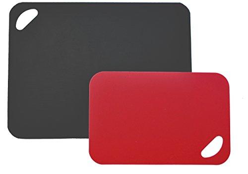Moha Moderne Haushaltwaren AG 4121638x 29/29x 19cm Flex und stabile Flexible Schneidematten, Set 2, schwarz/rot
