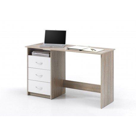 Avanti trendstore - scrivania in legno di quercia sonoma/bianco d´imitazione - ca. 120x77x50