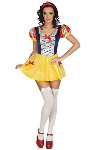 Nerd Clear Schneewittchen Kostüm für Frauen | sexy 2-teilige Verkleidung ideal für Karneval und Fasching: Größe: 40/42 (Frauen Für Schneewittchen-kostüme)