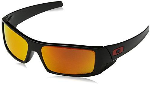 Oakley Herren Gascan 901444 Sonnenbrille, Braun (Polished Black), 60