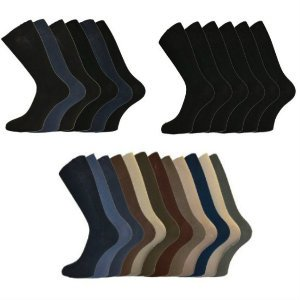 2a00c5330 6 Pairs of Mens 100% Cotton LOOSE Wide Top Ribbed Non Elastic Socks by ALER    UK Sizes 6-11 and 11-13