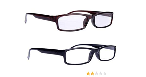 4406f3d7aff8 Aramoda Men and Women Power Reading Glasses with +1.50-Pack of 2   Amazon.in  Health   Personal Care