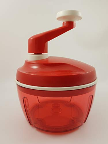 TW 1a Tupperware - Quick-Chef - DREI Klingen - rot