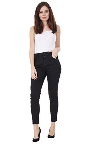 CURVE APPEAL Ladies Black Skinny Fit Super High Rise Denim Blue Stretch Ankle Jeggings