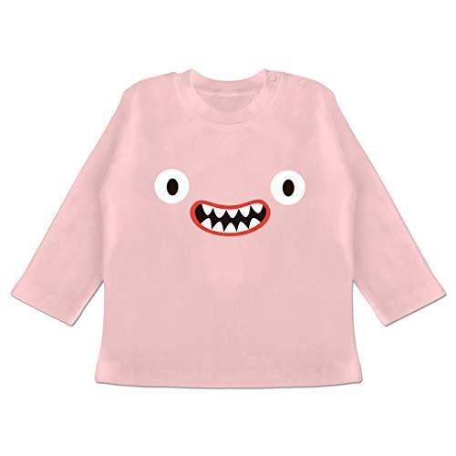 Karneval und Fasching Baby - Monster Kostüm Reißzähne - 18-24 Monate - Babyrosa - BZ11 - Baby T-Shirt ()