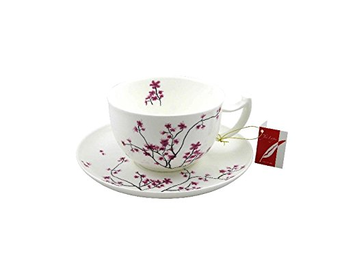 Tea Logic Fine Bone China Porzellan Jumbo (XL) Tasse Cherry Blossom 500ml