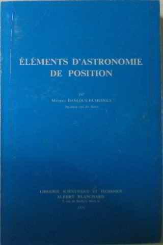 Éléments d'astronomie de position