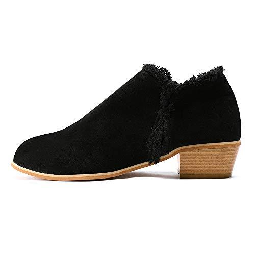 UFACE Fashion Damen Scrub Square mit einzelnen Stiefel britischen hochhackigen Stiefel