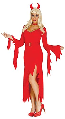 B-Creative Sexy Damen Red Devil Kostüm Halloween Fancy Kleid Outfit UK Größen 14-16 (Damen Red Devil Kostüm)