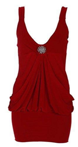 Chocolate Pickle ® Nouveaux Femmes Plus Size abordé Robe tulipe 36-50 red