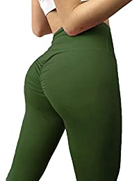 3d7fa021383ef YOFIT Women Tummy Control Ruched Butt Sexy Yoga Pants High Waist Depot  Workout Stretchy Leggings Trousers