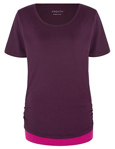 Asquith Yoga-T-Shirt Bend It – Berry/Fuchsia